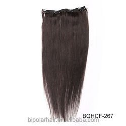 No Shed No Tangle Unprocessed Virgin Human Hair Cuticle Remy Clip Brazilian Hair Extensions Double Weft