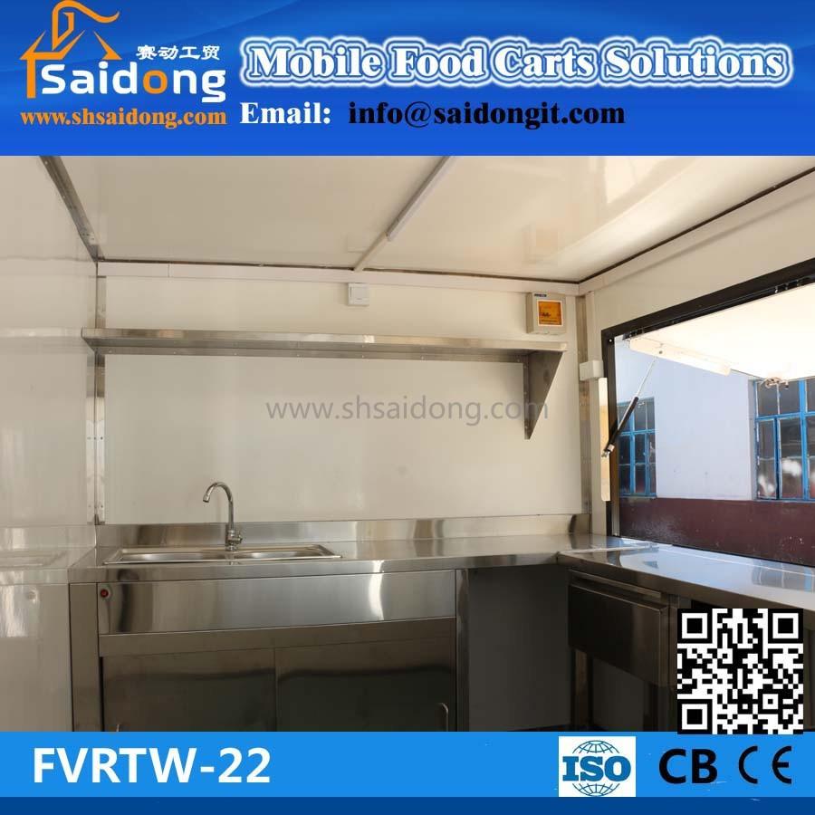 Best Quality Mobile Hot Dog Food Cart Mobile Engine Food