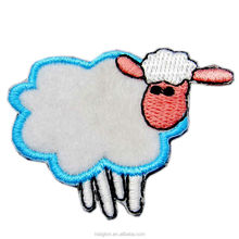 Custom Chenille sheep shape cartoon embroidery chenille patches ,Small embroidery patch for baby clothes
