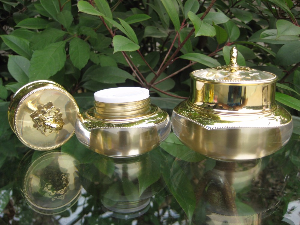 30G Luxury Crown Golden Cosmetic Jar <strong>Bottles</strong>