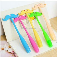 2014 creative plastic ball pen mustache style for promotion gift