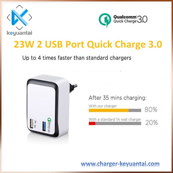 2017 New Qualcomm fast charging QC 3.0 quick charger for mobile Phone UK EU plug