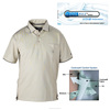 Hiking Coolmax Fabric Polo Men's White Shirt Outdoorwear
