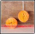 Orange Tissue Paper Hanging Decorations 5cm Mini Paper Honeycomb Balls