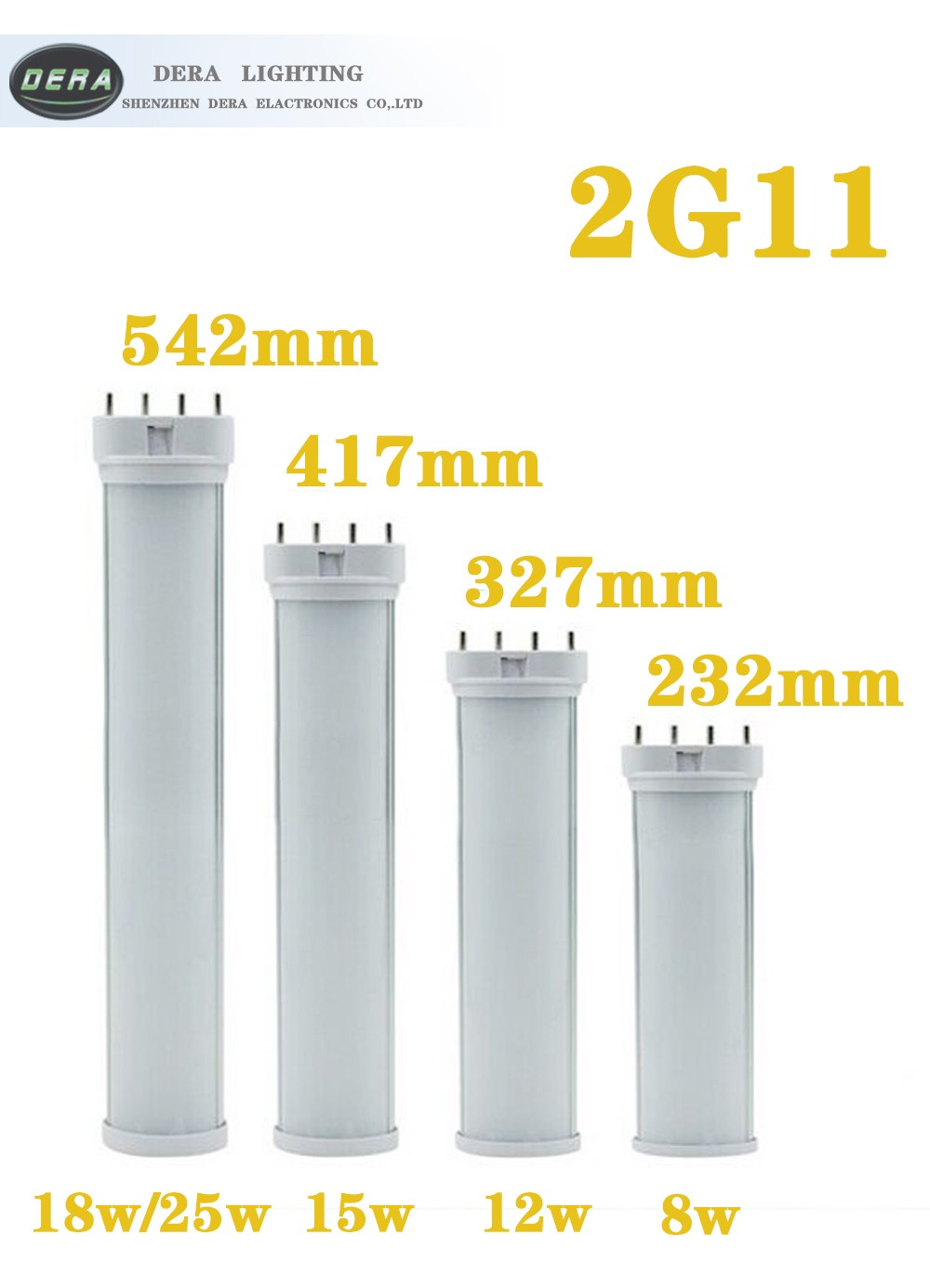 2016 factory price new hot sale chinese led light clear and frost cover 18w 4pin 2g11 base led tubes residential lighting