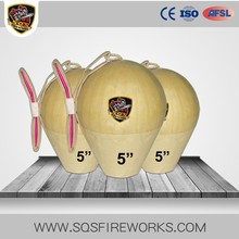 Hot Sale CE Pyro Wholesale 1.3G UN0335 High Quality 5 inch Display Shells Fireworks