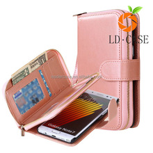 PU Leather Wallet Case Card Holder Flip Silicon Phone Cover Cute Color for Samsung