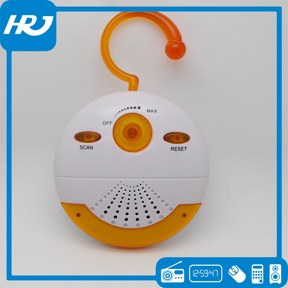 FM radio,factory wholesale portable waterproof shower radio with a cute shape