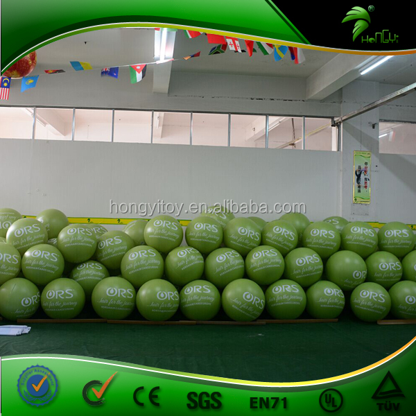 Green Advertising Inflatable Decorative Balloon / Self Inflating Helium Balloons / Inflatable Hanging Balloon 50cm Dia