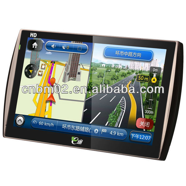 High definition PND/Car GPS with 8G memory, free map, car camera