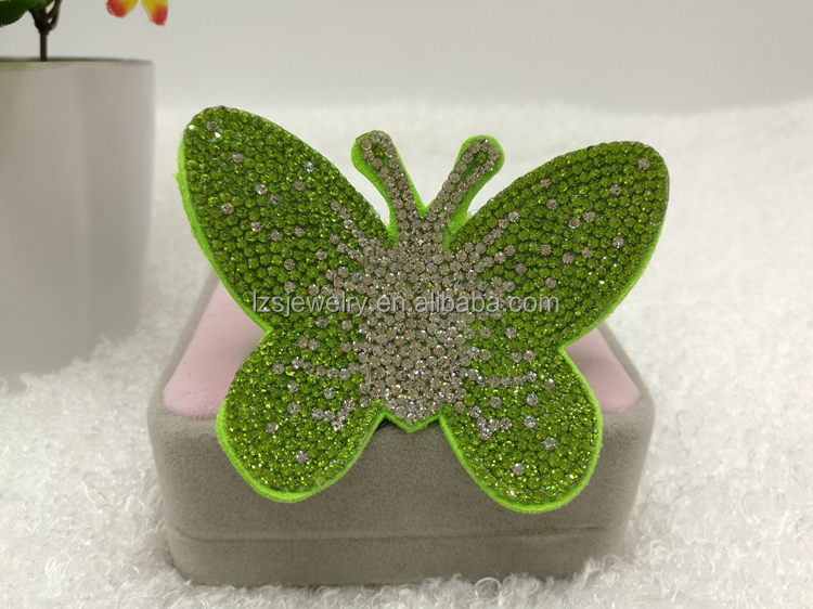 Children's Favorite Rhinestone Butterfly Baby Girl Hair Clips