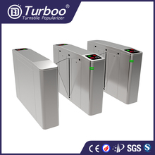Pedestrian security entrance flap barrier gate