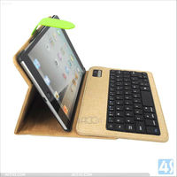 Book Style Wireless Bluetooth Keyboard Leather Case for iPad Mini P-iPDMINICASE120