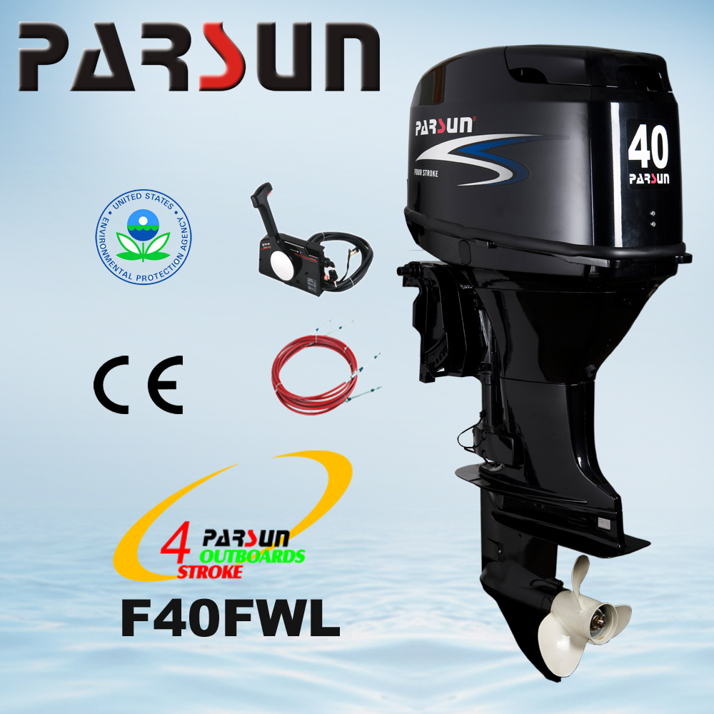 F40FWL 40HP 4-stroke remote control electric start long shaft outboard engine boat motor outboard motor