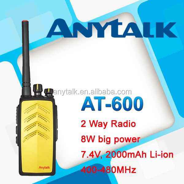High power 8W AT-600 UHF400-480Mhz transceiver amateur radio