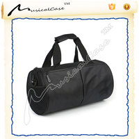 embassy large black leather gym bag travel luggage straps promotional travelling duffel bag popular camping pouch