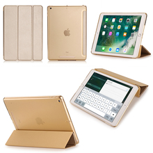 3 fold transparent TPU cover tablet case for iPad 9.7 2017 Case