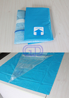 Good quality disposable under buttock drape for hip with fluid pouch and backing