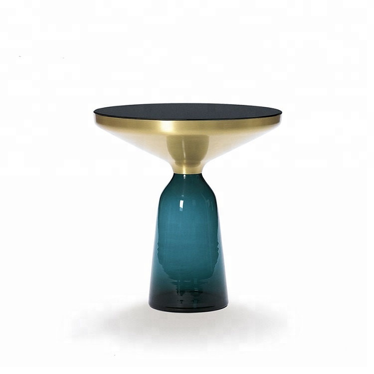 InYard Original Nordic Decorative metal coffee <strong>table</strong> with Hand-blow Glass Leg