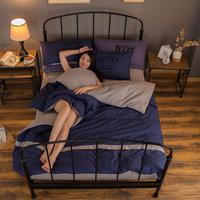 100%polyester duvet cover plain colour polyester bedding set bed sets