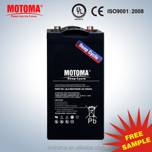 CE UL ISO certified 2 v rechargeable Deep cycle battery supplier