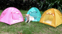 Fashion folded tent pet bed house for dog luxury wholesale wooden pet cat bed washable cute soft dog