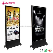 Outdoor standing light box hotel signboard lighting store design for restaurants LED moving signboard