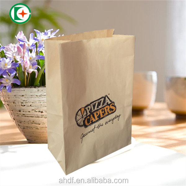 printed brown kraft paper bags distributor/kraft paper food packaging bags