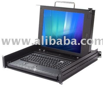 "Rackmount LCD Monitor Keyboard Drawer with 17"" LCD and Built-in TV Tuner"