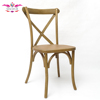 Solid wood stacking cross back chair