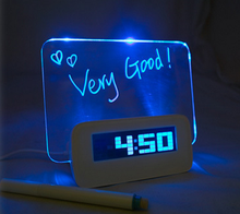 Mordern LED message board alarm clock with 4 USB hub