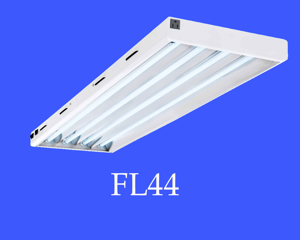 High lumen 4ft 54W x 4lamps Cool Spectrum 6500K T5 HO fluorescent grow light fixture for Greenhouse hydroponics growing system