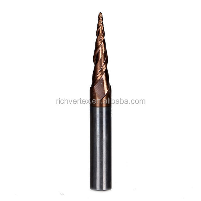 Manufacturer TiAlN Coated taper <strong>Carbide</strong> 1 endmill