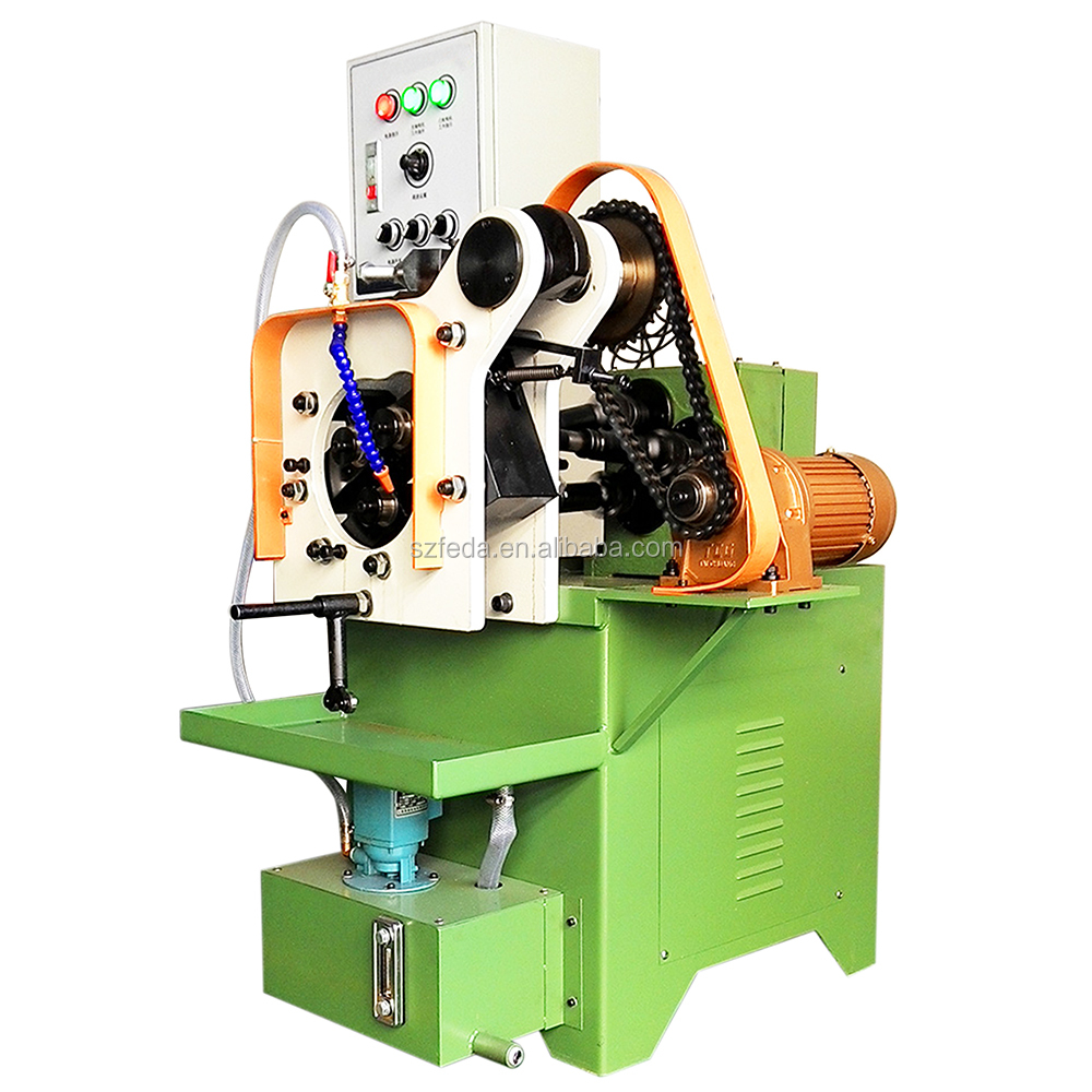 FEDA automatic metal forming machine cam type three rollers threading machine for tube parts
