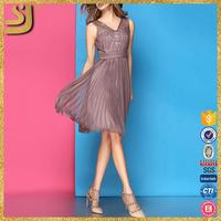 3rd-party inspection black pleats dresses, simple office lady's dress, elegant pleats evening dresses long