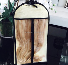 clear windows hair extension bag with hanger