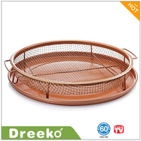 Round Copper Crisper Tray Air Fry