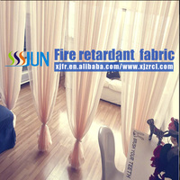Shower Room Window Flame Proof Sheer Curtain