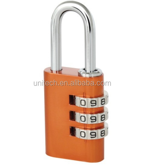 30mm 3 dial colorful aluminum number lock