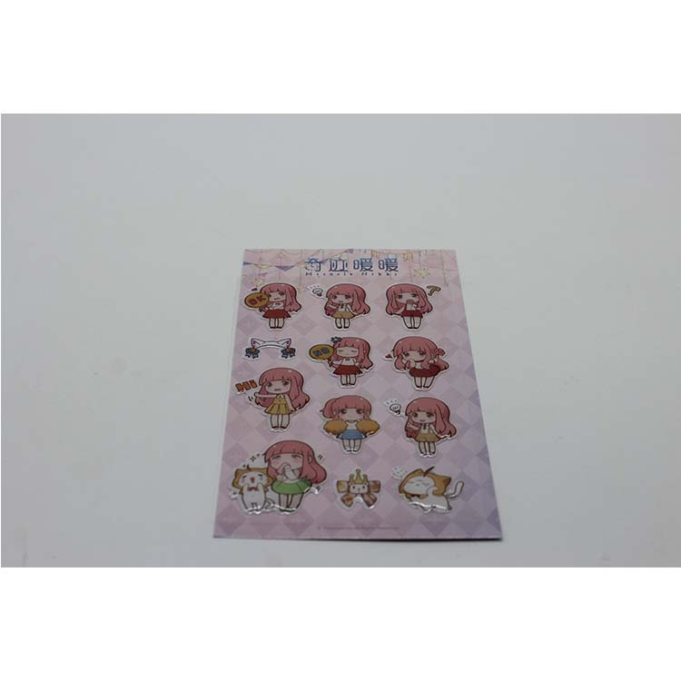 2019 Custom Lovely Girl 3D Clear Epoxy Dome Sticker