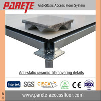 Ceramic finish anti static steel raised floor system