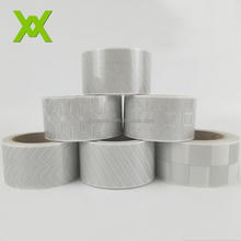 Hi Vis Reflective Silver Segmented Heat Transfer vinyl Tape For Apparel