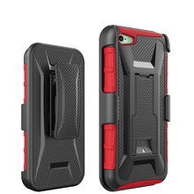 Heavy Duty Best Clip Armor X design hybrid Kickstand Case For Iphone 5 5s se