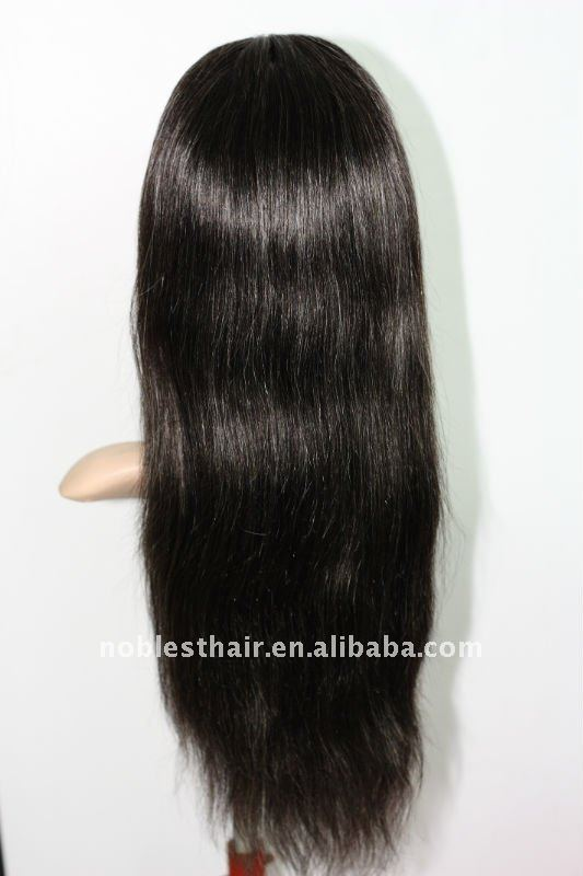 1B/grey Indian remy hair Natural Straight stock full lace wig for Afro women