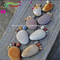Garden landscaping decorations foot shape stepping stone