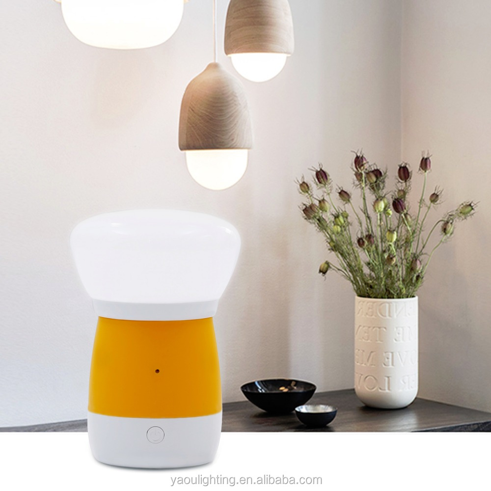voice sensor smart multifunction led dimmable night light with Li-ion Batteray
