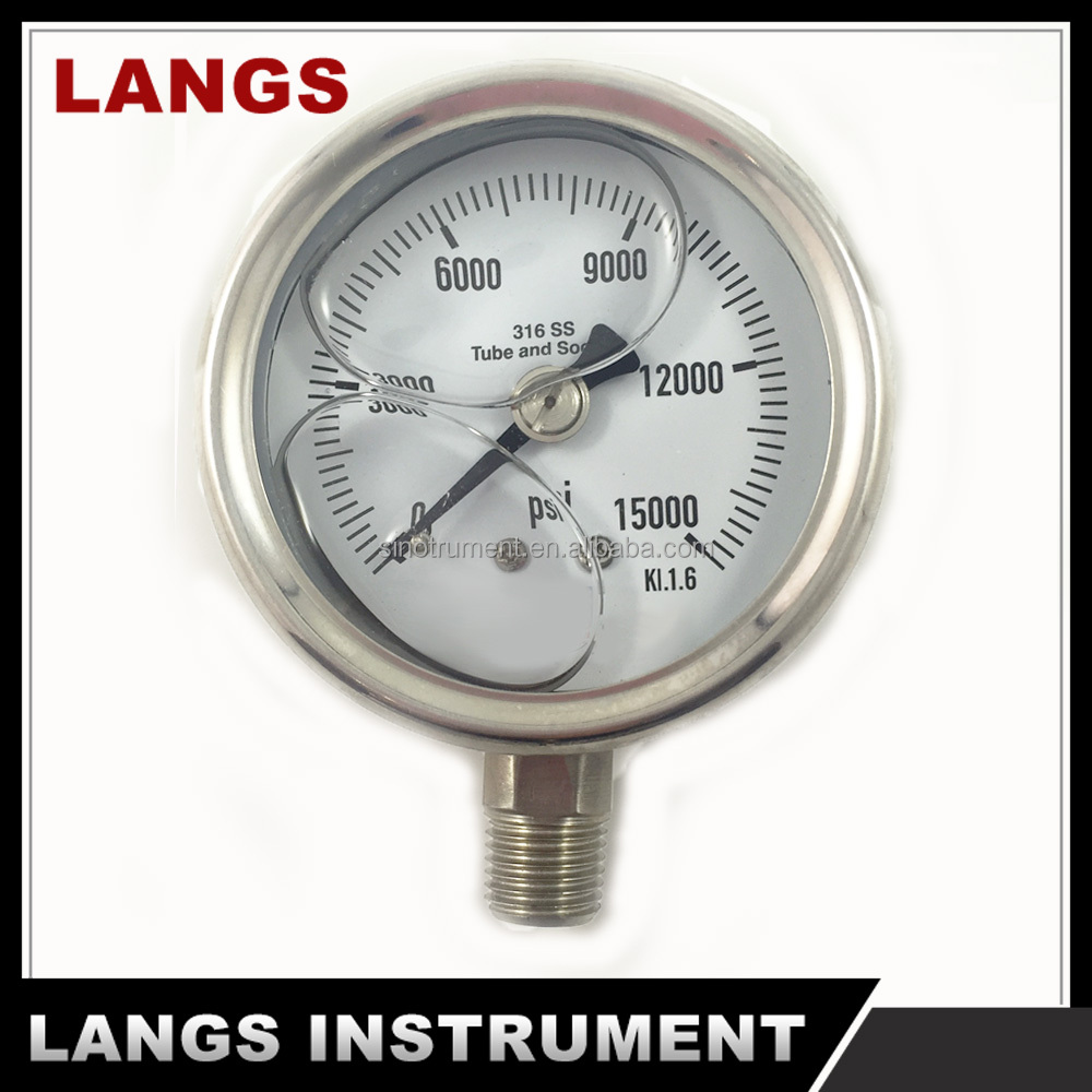 039 All Stainless Steel Hydraulic Oil Filled Pressure Gauge