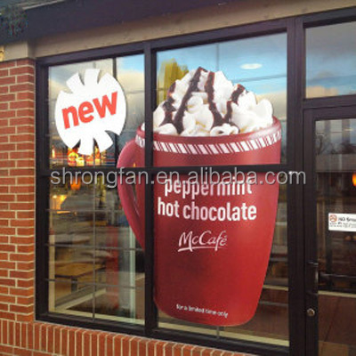 High Quality Removable Window Reusable Static Cling Decals For Advertising