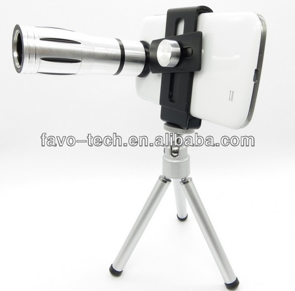 Aluminum telescope camera lens mobile phone lens zoom 12X