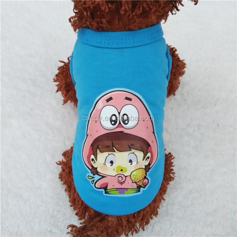 Bangkok Wholesale Dog Clothes, Fashion Cartoon Pattern High Quality Thailand Factory Cheap Newest Bangkok Wholesale Dog Clothes
